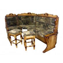 Кухонный уголок Барон с резьбой и с валиком