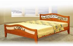 Кровать Алиса с элементами ковки