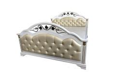 Кровать Лиора ковка задняя спинка высокая
