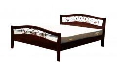 Кровать Юлия с элементами ковки