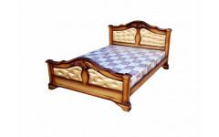 Кровать Экстра ткань с резьбой