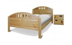 Кровать Афродита с резьбой