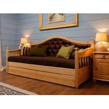 Кровать диван с каретной стяжкой