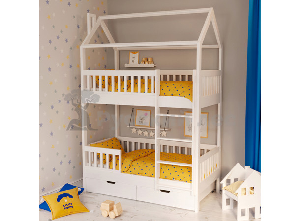 Кровать 2ух ярусный дом модель 2